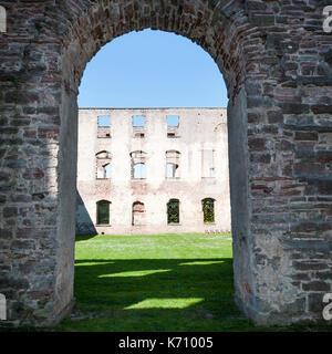 Particolare della fortezza Borgholm Castello in Öland Svezia