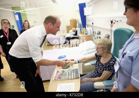 Il duca di cambridge chat con paziente edna dagnall nella fragilità