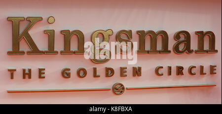 Leicester Square Londra, Regno Unito. Xviii Sep, 2017. Il kingsman: il golden circle premiere mondiale a Londra. Credito: dinendra haria/alamy live news Foto Stock