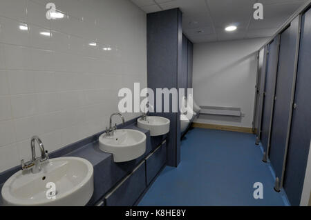 Toilette per disabili e stanze da bagno di lavaggio in un ufficio