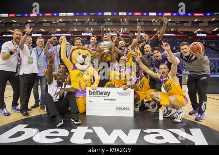 Londra, Regno Unito. Il 24 settembre 2017. london lions win inaugurale di betway tutte le stelle torneo di basket, Foto Stock