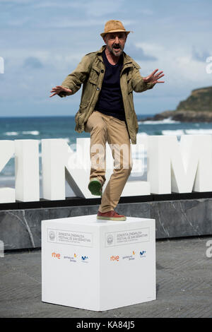 San sebastian, Spagna. Xxv Sep, 2017. attore ramon aguirre al photocall di 'operación concha' durante il sessantacinquesimo Foto Stock