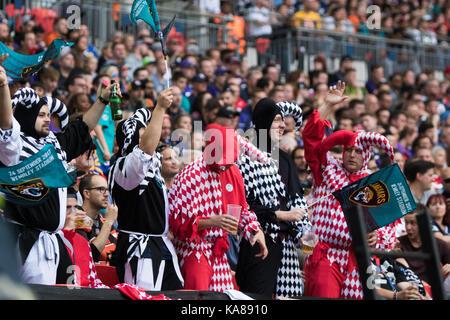 Londra, Regno Unito. 24Sep, 2017. Lo stadio di Wembley a Londra, Inghilterra; NFL International Series, Gioco Uno; Foto Stock