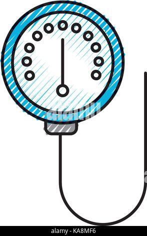 Scala del dispositivo misuratore di manometro indicatore della pressione Foto Stock