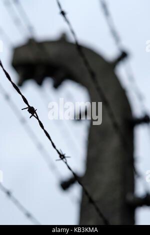 Auschwitz, Polonia Foto Stock