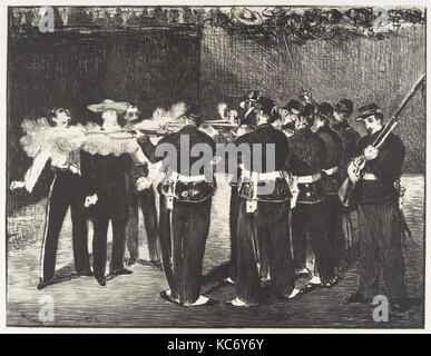 L'esecuzione dell'Imperatore Massimiliano (L'exécution de Maximilien), Édouard Manet, 1868 Foto Stock