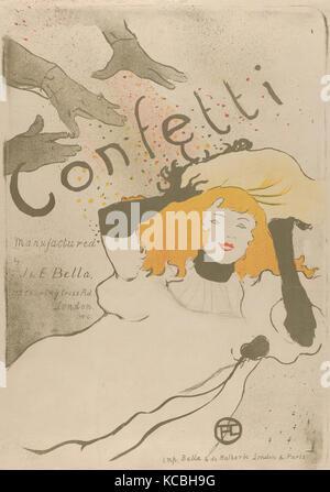 Coriandoli, 1894, litografia stampata in tre colori su pergamena, 22-7/16 x 17-5/16 in. (57,0 x 44,0 cm), Henri Foto Stock