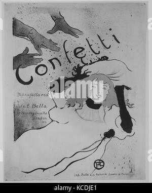 Coriandoli, 1894, litografia stampata in tre colori su pergamena, 22-1/16 x 17-5/16 in. (56,0 x 44,0 cm), Henri Foto Stock
