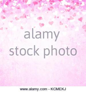 Grunge luminoso di colore viola il giorno di san valentino cuori lo sfondo dell'illustrazione con posto per il testo. Foto Stock