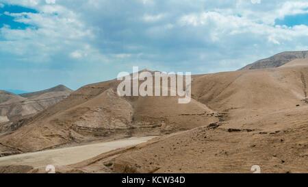 Deserto vicino al Mar Morto Foto Stock