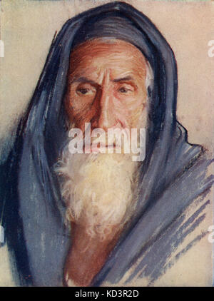 Giudeo religioso in Terra Santa c.1910 di Harold Copping