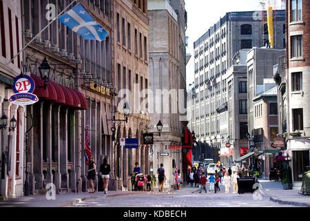 Montréal, Québec,24 Maggio,2016.st-paul street in Old Montreal. credito:mario beauregard/alamy live news Foto Stock