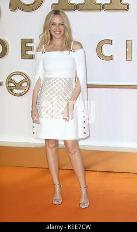 "Set 18, 2017 - Kylie Minogue frequentando 'Kingsman: Il Golden Circle"" mondo Premiere, Leicester Square a Londra, Foto Stock"