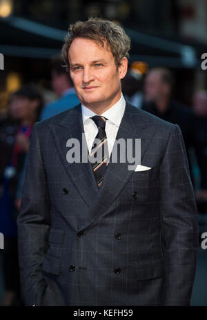 London.UK. Jason Clark alla Royal Bank of Canada Gala e alla prima europea di 'Mudbound'. 61st BFI London Film Festival 5th Ottobre 2017 Ref:LMK386-S816-061017 Gary Mitchell/Landmark Media WWW.LMKMEDIA.COM Foto Stock