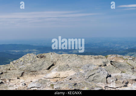 Mountain View, Beskidy, Babia Gora, Polonia. Foto Stock