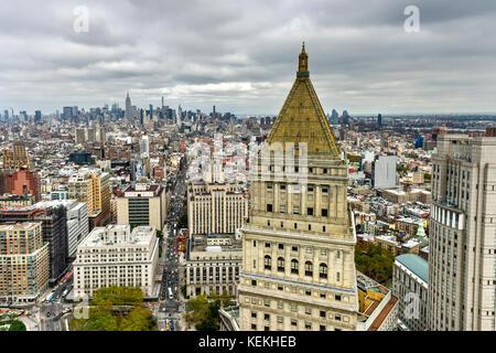 Vista aerea dello skyline di New York City Foto Stock