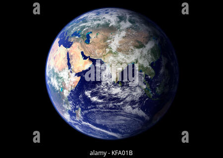 La terra dallo spazio Foto Stock