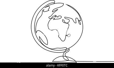 Globo Schizzo Illustrazione Vettoriale Di Sketchy Illustrazione