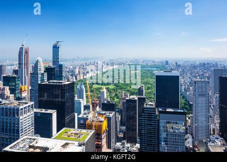Stati Uniti New York new york New York skyline skyline di manhattan Foto Stock