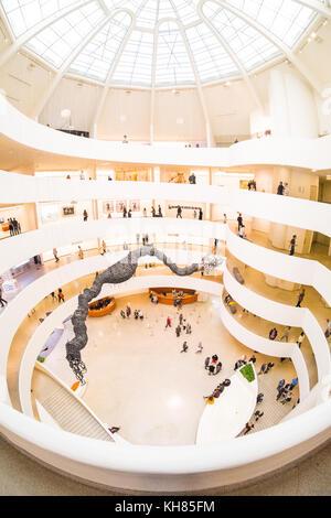 Salomone. R. Guggenheim Museum, la Fifth Avenue, Manhattan, New York City, NY, Stati Uniti d'America. U.S.A. Foto Stock