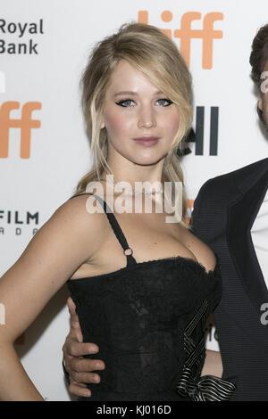 Toronto, Canada. Decimo Sep, 2017. Jennifer Lawrence assiste la premiere di 'maltri!' durante la XLII toronto international Foto Stock