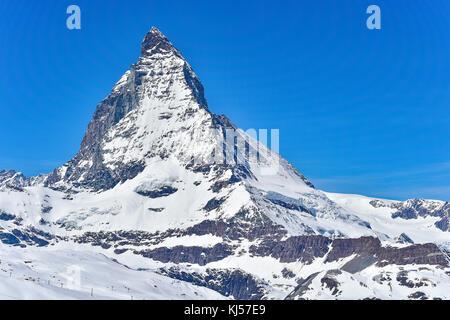 Matterhorn vom gornergrat Zermatt, Svizzera Foto Stock