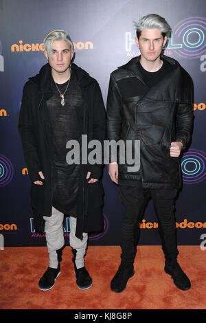 New york, ny - novembre 11: grigio assiste il nickelodeon halo awards 2016 al molo 36 novembre 11, 2016 a New York City. persone: grigio Foto Stock