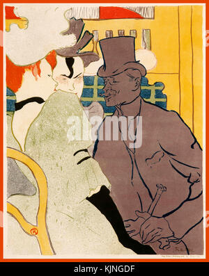 L'inglese presso il Moulin Rouge [L'anglais au Moulin Rouge] 1892 Henri de Toulouse-LAUTREC Francia 1864 - 1901 Foto Stock