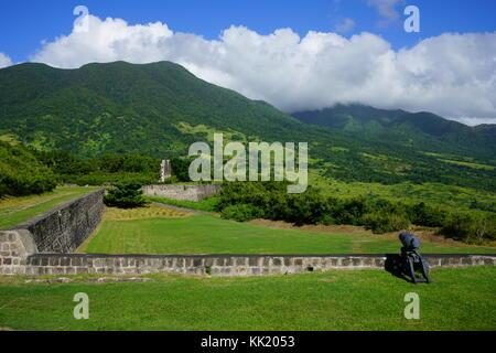 Il Parco Nazionale di Brimstone Hill Fortress, un sito Patrimonio Mondiale dell'Unesco sull'isola di St Kitts (Saint Christopher) Foto Stock