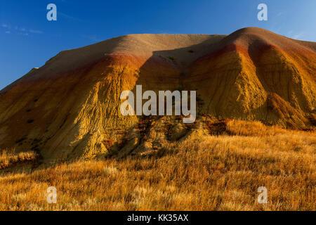 Tumuli giallo al mattino, questi ex fondali marini hanno un colore giallo a causa di ferro ossidato contenuto, Parco Foto Stock