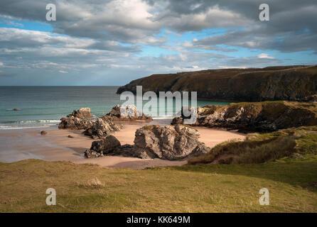 Sango Sands vicino a Durness, Scozia Foto Stock
