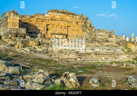Anfiteatro di Pamukkale, Turchia Foto Stock