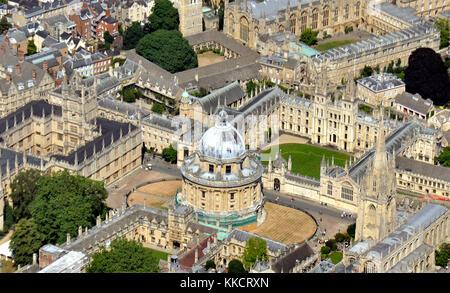 Oxford dall'aria Foto Stock
