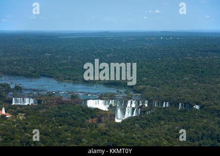 Lato argentino delle Cascate di Iguazu, sul confine Brasile - Argentina, Sud America - aereo