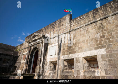 St. Kitts e Nevis, St. kitts, Brimstone Hill, Brimstone Hill Fortress Foto Stock