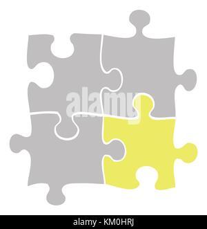 Spiccano puzzle icona illustrazione Foto Stock