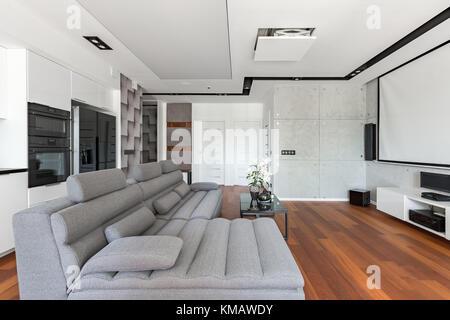 Soggiorno Con Angolo Cottura Moderno. Una Casa In Grecia Dal Mood ...