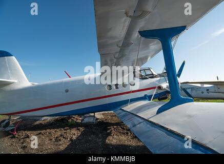 Laterale biplanare vista da vicino Foto Stock