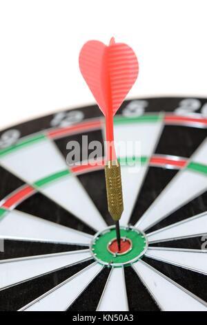 Un'immagine ravvicinata di un Dart Board. Foto Stock