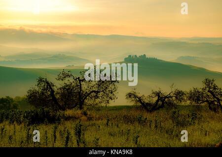Val d'Orcia in Italia la provincia Toscana Europa. Foto Stock