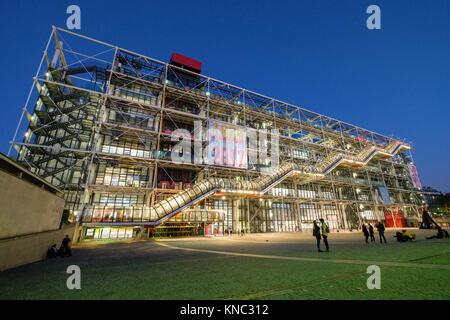 Centre national d'art et de la cultura Georges-Pompidou, Parigi, Francia Foto Stock