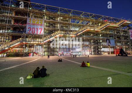 Centre national d'art et de la cultura Georges-Pompidou, Parigi, Francia Foto Stock