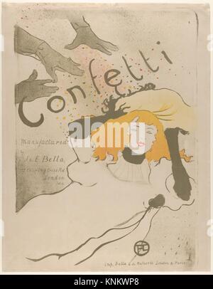 Coriandoli. Artista: Henri de Toulouse-Lautrec (francese, Albi 1864-1901 Saint-André-du-Bois); data: 1894; mezzo: Foto Stock