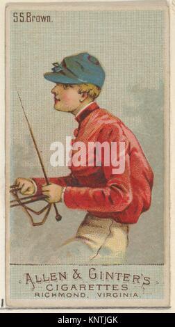 S.S. Brown, dalla Racing i colori della serie mondiale (N22a) per Allen & Ginter sigarette. Editore: Allen & Ginter (American, Richmond, Foto Stock