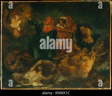 Copia dopo Delacroix la corteccia di Dante. Artista: Édouard Manet (francese, Parigi Parigi 1832-1883); data: ca. Foto Stock