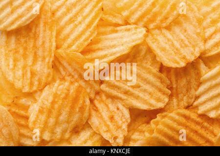 Chip sfondo alimentare Foto Stock