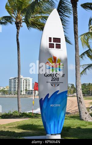 Gold coast 2018 giochi del Commonwealth Conto alla Rovescia tavole da surf, Townsville, Queensland, Australia Foto Stock
