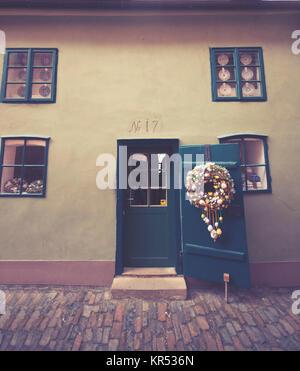 Praga, 18 Marzo : Golden Lane nel castello di Praga. 18, 2016 a Praga - Repubblica Ceca