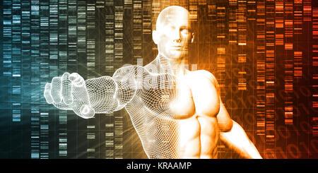 La sequenza del genoma Foto Stock