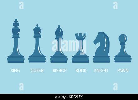 Set di pezzi di scacchi. Foto Stock